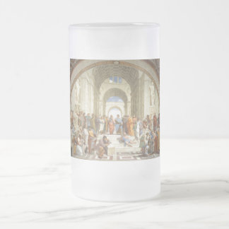 Raphael's The School of Athens Frosted Glass Beer Mug