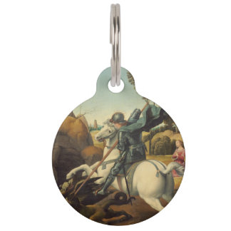 Raphael - Saint George and the Dragon Pet Name Tag