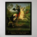"""Raphael: """"San Jorge que lucha arte del dragón"""" Impresiones"""