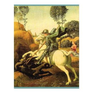 """Raphael """"San Jorge y el dragón"""" (circa 1505) Folleto 8.5"""" X 11"""""""