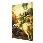 """Raphael """"San Jorge y el dragón"""" (circa 1505) Impresión En Lienzo"""