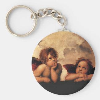 Raphael Sanzio - ángeles (detalle) Llavero Redondo Tipo Pin