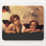 Raphael Sanzio - ángeles (detalle) Alfombrillas De Ratones