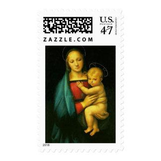 Raphael Sanzio - Madonna del Granluca Postage Stamp