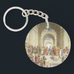 "Raphael - School of Athens Keychain<br><div class=""desc"">School of Athens by Raphal. Famous and historic painting.</div>"