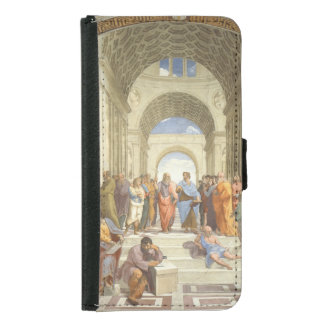 Raphael - School of Athens Wallet Phone Case For Samsung Galaxy S5