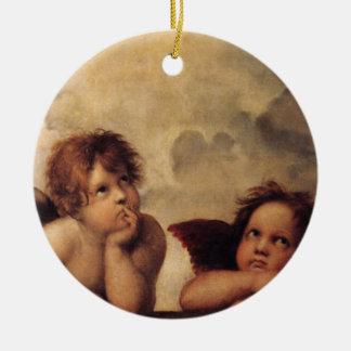 Raphael,Sistine Cherub Ceramic Ornament