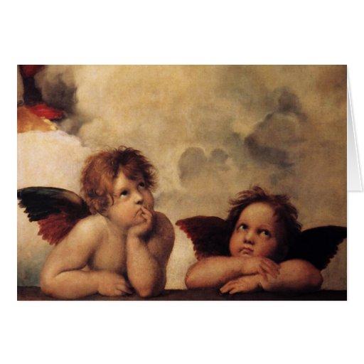 Raphael,Sistine Cherub Greeting Card