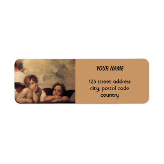 Raphael Sistine Cherub Return Address Label