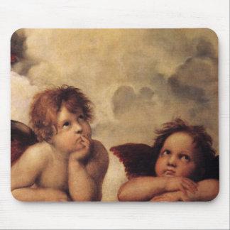 Raphael,Sistine Cherub Mouse Pad