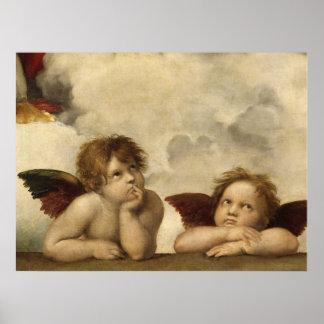 Raphael,Sistine Cherub Poster