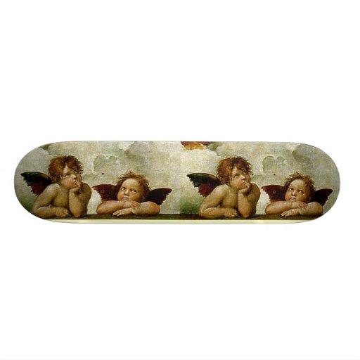 "Raphael ""Sistine Madonna"" (circa 1513) (detalle) Patineta 8 1/8"""