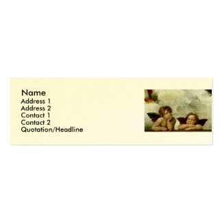 "Raphael ""Sistine Madonna"" (circa 1513) (detalle) Tarjeta Personal"