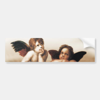 Raphael Sistine Madonnas Cherub Version 2 Bumper Sticker