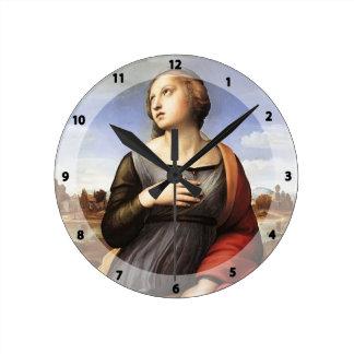 Raphael St Catherine de Alexandría Relojes De Pared