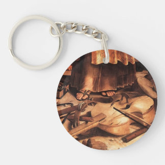 Raphael- St. Cecilia with Saints (detail) Single-Sided Round Acrylic Keychain