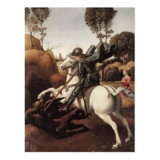 Raphael- St. George and the Dragon Postcard