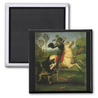 "Raphael:""St. George Fighting the Dragon"" Art Magnet"