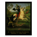 Raphael: St. George Fighting the Dragon Poster