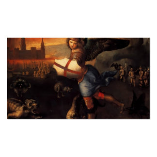 Raphael- St. Michael Double-Sided Standard Business Cards (Pack Of 100)