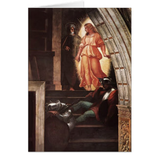 Raphael: St Peter Escapes with the Angel Greeting Card