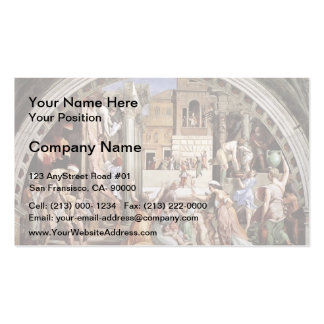 Raphael: The Fire in the Borgo Double-Sided Standard Business Cards (Pack Of 100)