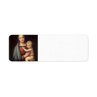Raphael- The Grand Duke's Madonna Return Address Label
