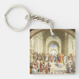 Raphael - The school of Athens 1511 Keychain