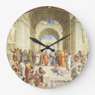 Raphael - The school of Athens 1511 Large Clock
