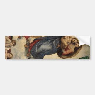 Raphael - The Sistine Madonna Bumper Sticker