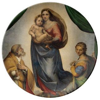 Raphael - The Sistine Madonna Dinner Plate