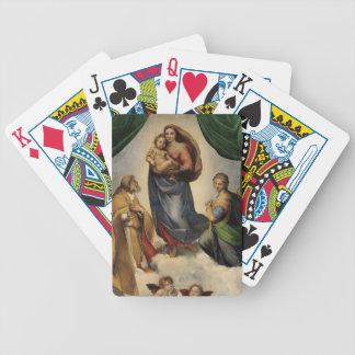 Raphael - The Sistine Madonna Bicycle Poker Cards