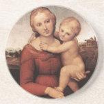 Raphael's Beautiful Madonna Drink Coasters