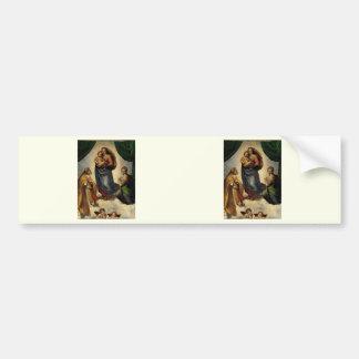 "Raphael's Classic ""Sistine Madonna"" (circa 1513) Bumper Sticker"