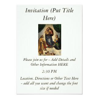 "Raphael's Classic ""Sistine Madonna"" (circa 1513) Card"