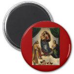 "Raphael's Classic ""Sistine Madonna"" (circa 1513) Fridge Magnets"