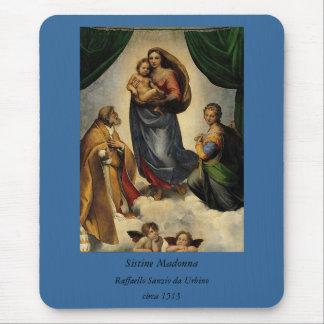 "Raphael's Classic ""Sistine Madonna"" (circa 1513) Mouse Pad"