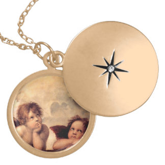 Raphael's Putti Necklace with Gold Finish