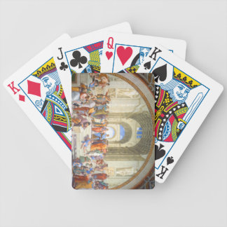 Raphael's School of Athens (Plato and Aristotle) Bicycle Playing Cards
