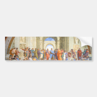 Raphael's School of Athens (Plato and Aristotle) Bumper Sticker