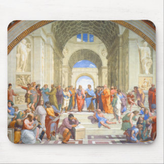 Raphael's School of Athens (Plato and Aristotle) Mouse Pad