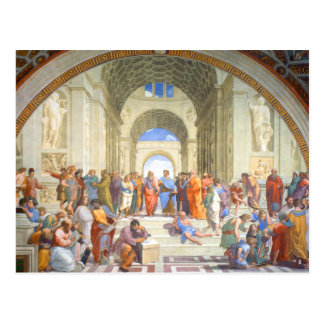 Raphael's School of Athens (Plato and Aristotle) Postcard