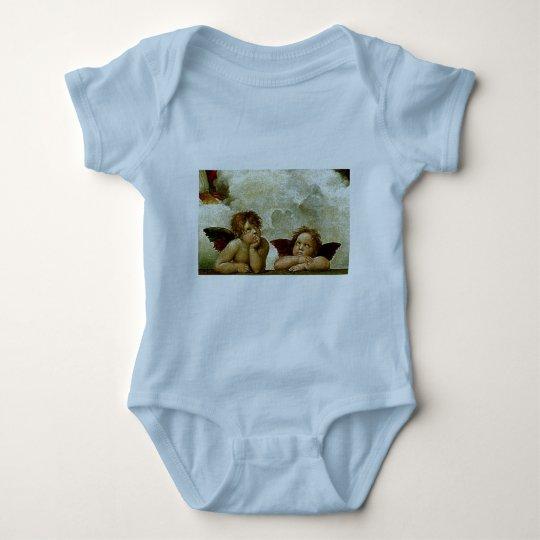 "Raphael's ""Sistine Madonna"" (circa 1513) (Detail) Baby Bodysuit"