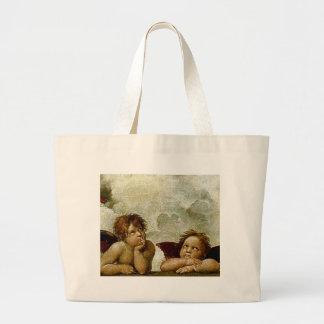 "Raphael's ""Sistine Madonna"" (circa 1513) (Detail) Canvas Bags"