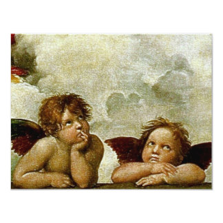 "Raphael's ""Sistine Madonna"" (circa 1513) (Detail) Card"