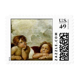 "Raphael's ""Sistine Madonna"" (circa 1513) (Detail) Postage Stamps"