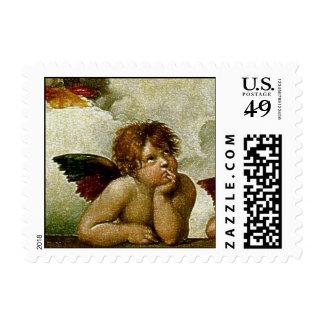 "Raphael's ""Sistine Madonna"" (circa 1513) (Detail) Stamps"