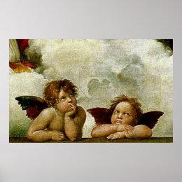 "Raphael's ""Sistine Madonna"" (circa 1513) (Detail) Poster"