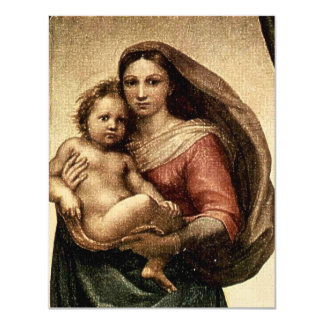 "Raphael's ""Sistine Madonna"" Detail (circa 1513) Card"