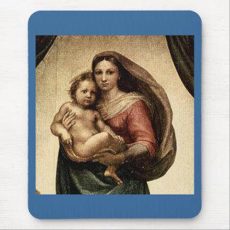 "Raphael's ""Sistine Madonna"" Detail (circa 1513) Mouse Pad"